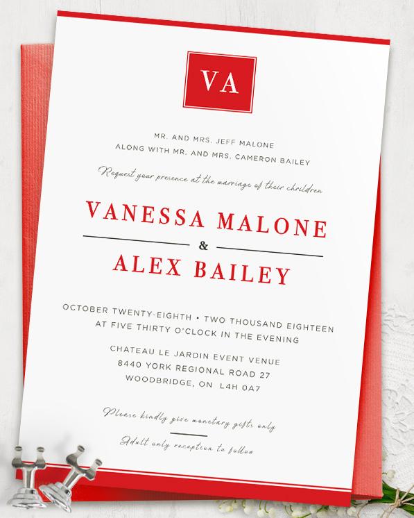 Inkvites - The Vanessa Wedding Invitation